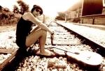 Ksenija čaka na vlak