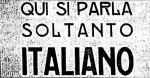 Napis, ki prepoveduje uporabo slovenskega jezika