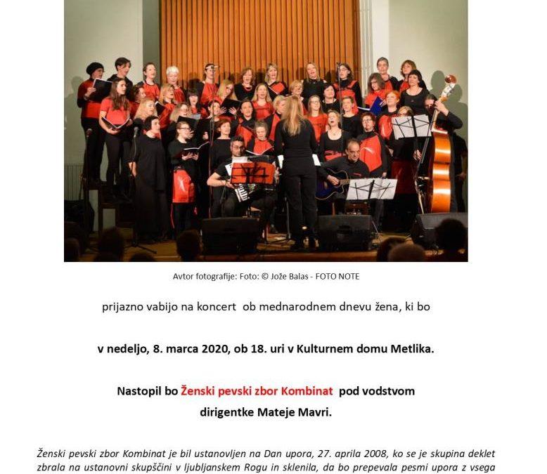 Koncert v Metliki ob mednarodnem dnevu žensk